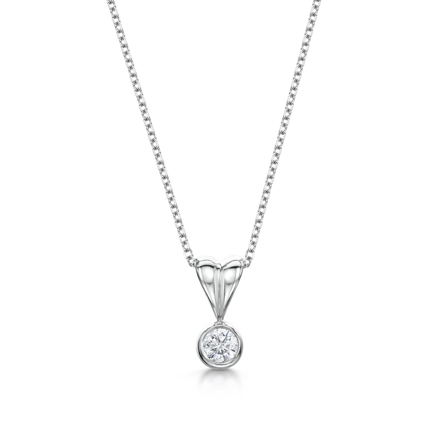 Classic diamond solitaire pendant bale mozeypictures Gallery