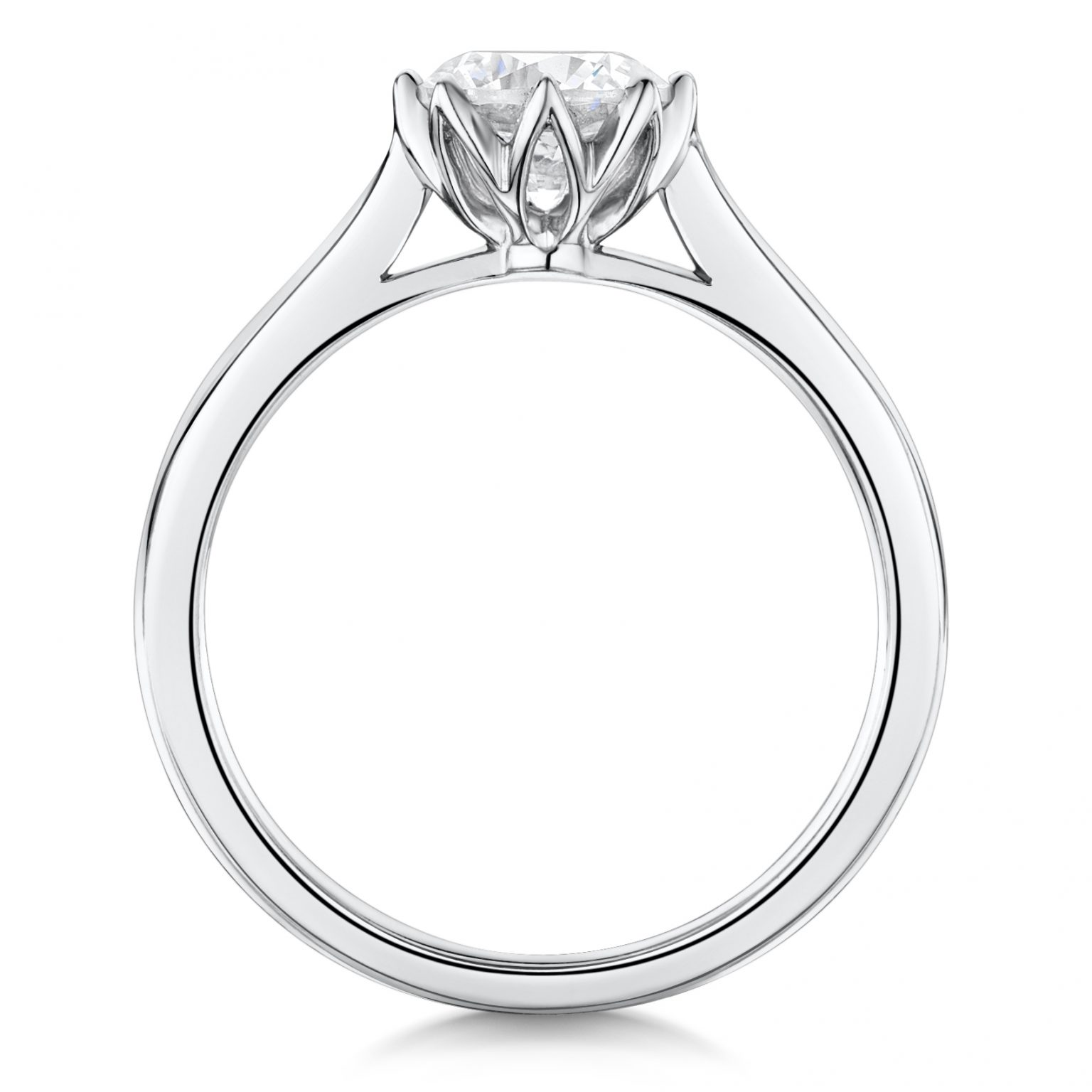 diamond yellow classic rings gold ring engagement round in low trellis profile solitaire