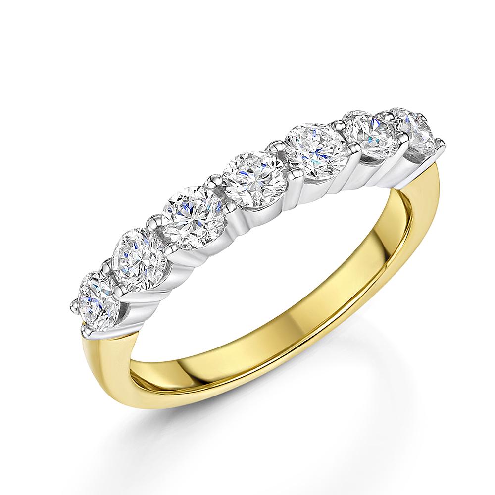 Classic 1ct Seven Stone Diamond Eternity Ring